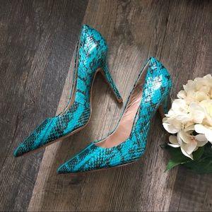 Charles by Charles David   Turquoise Snake Heels